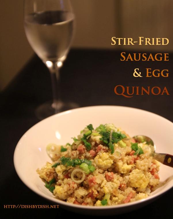 Stir-Fried Sausage & Egg Quinoa_2