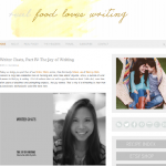 Guest Post at Food Loves Writing: The Joy of Writing