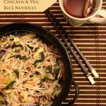 Asian-Style Chicken & Vegetable Rice Noodles