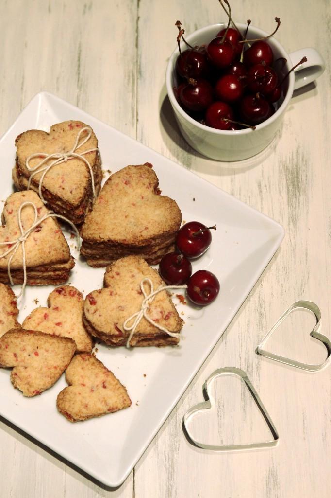 Grain-free Cherry Shortbread Cookies1