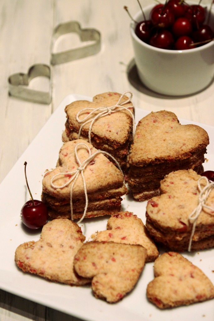 Grain-free Cherry Shortbread Cookies4