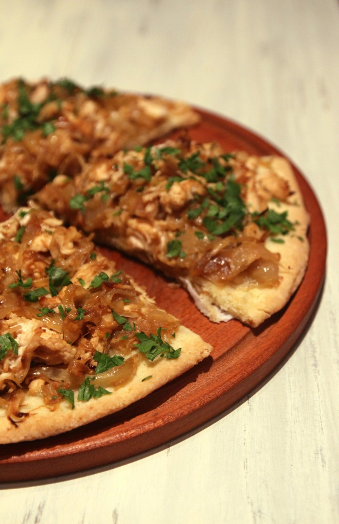 Grain-free Caramelized Onion & Chicken Pizza