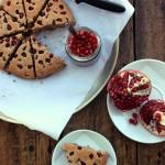 Grain-free Pomegranate Coconut Scones + Celebrating 2 years!