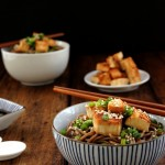 Pan-fried Tofu and Soba Salad
