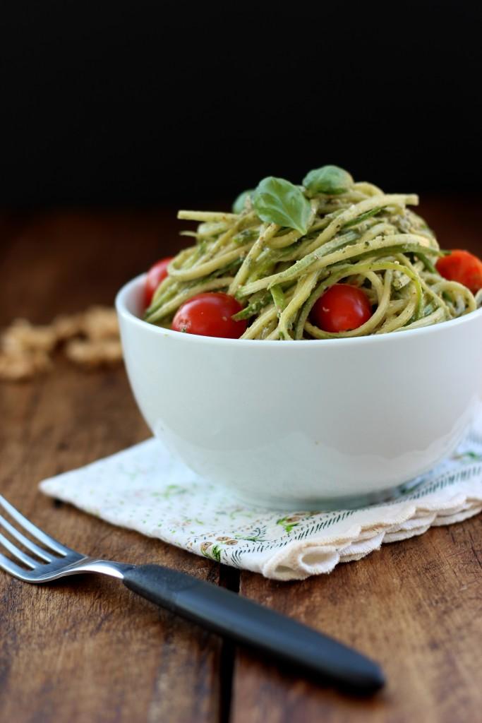 Walnut Pesto Zucchini Noodles5