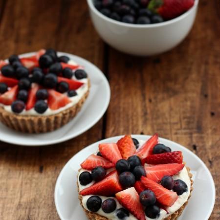 Grain-free Berry & Cream Tart