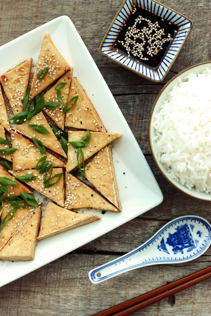 Pan-fried Tofu & Siracha Soy Sauce