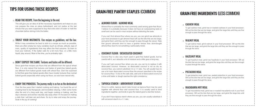 Included in the e-cookbook