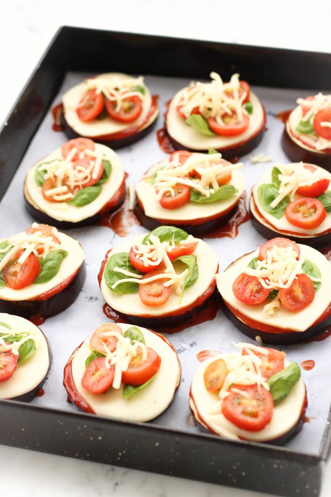 Mini Caprese Eggplant Pizzas