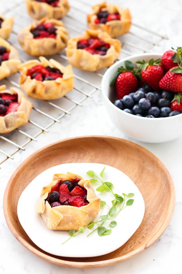 Gluten-free Mini Mixed Berry Galettes