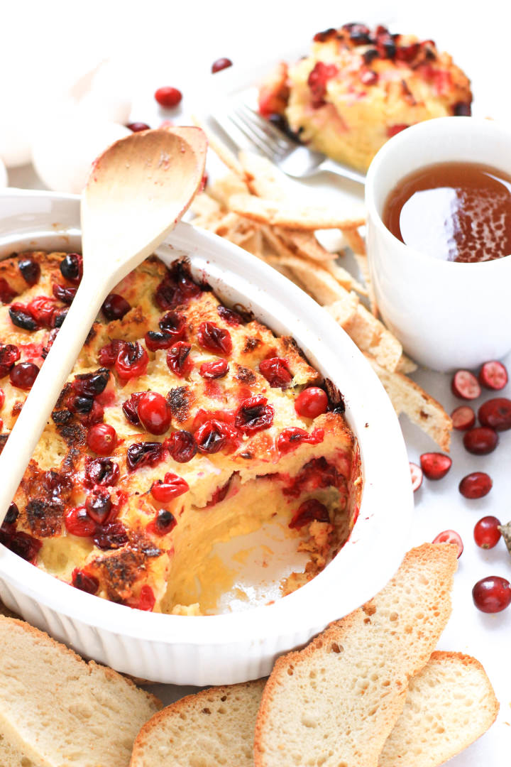 Gluten-free Cranberry Bread Pudding