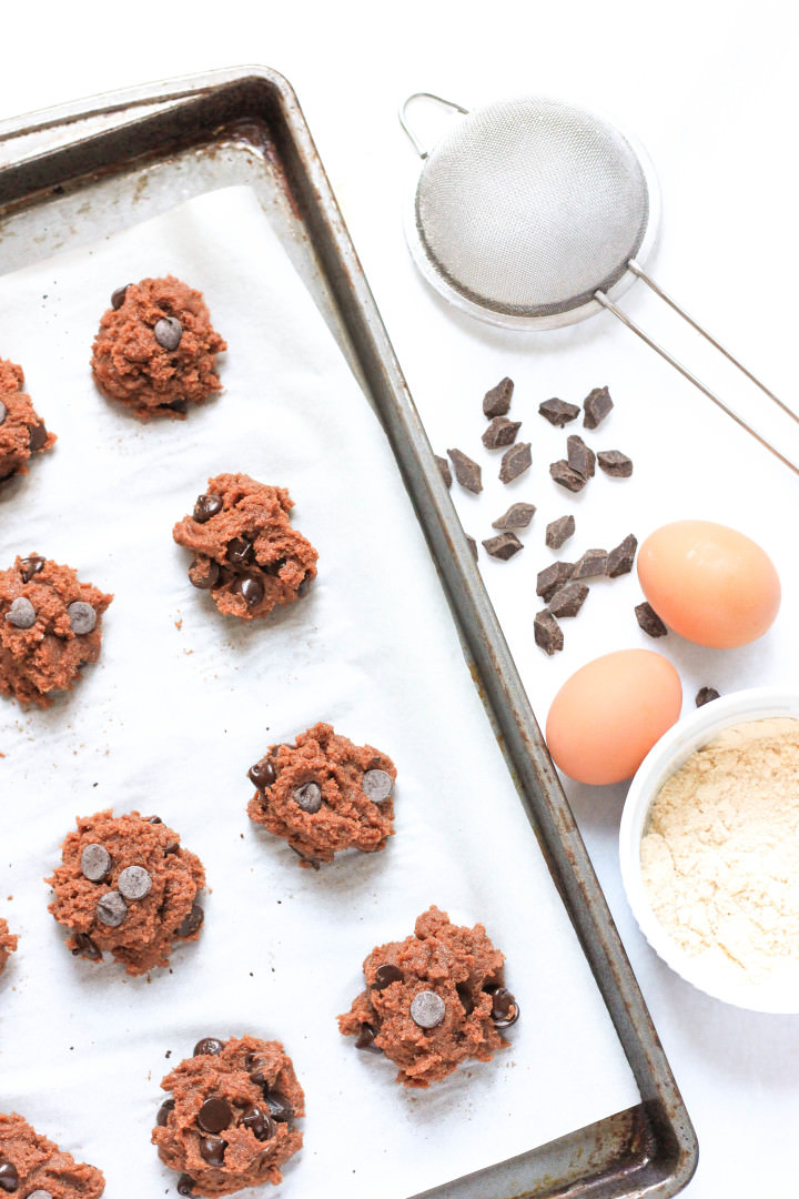 Grain-free Double Chocolate Almond Coconut Cookies