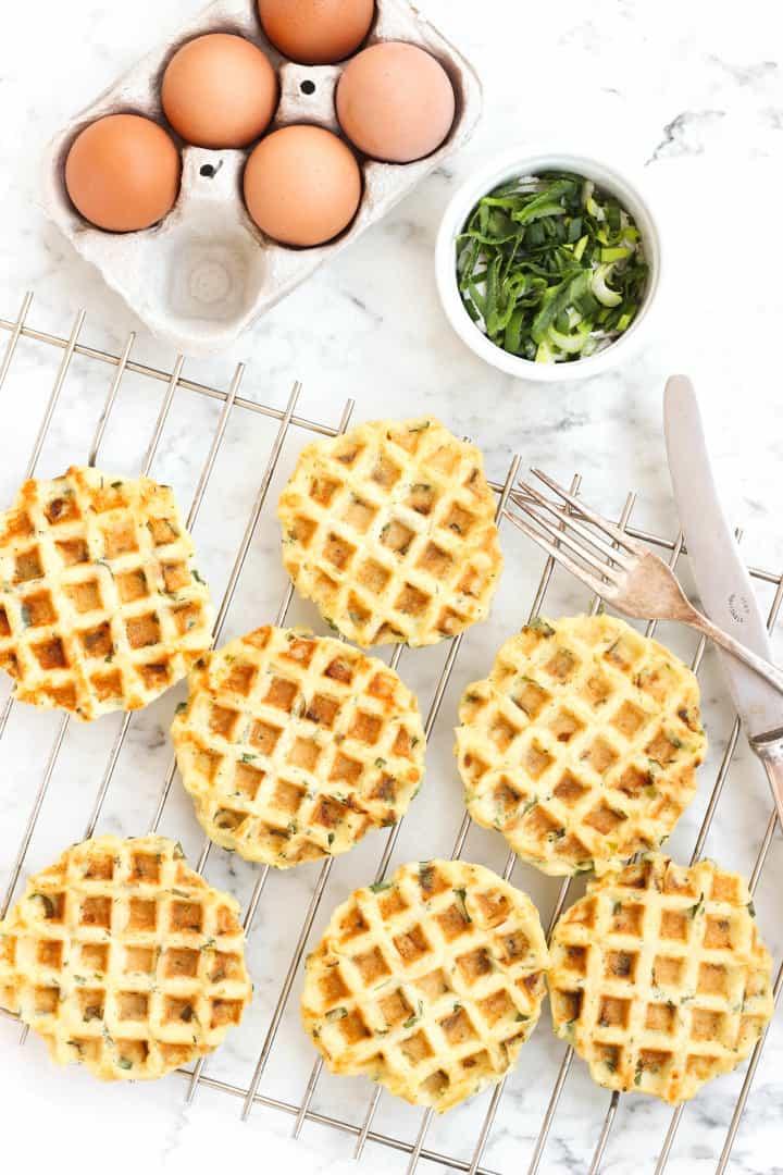 Mashed Potato and Spring Onion Waffles