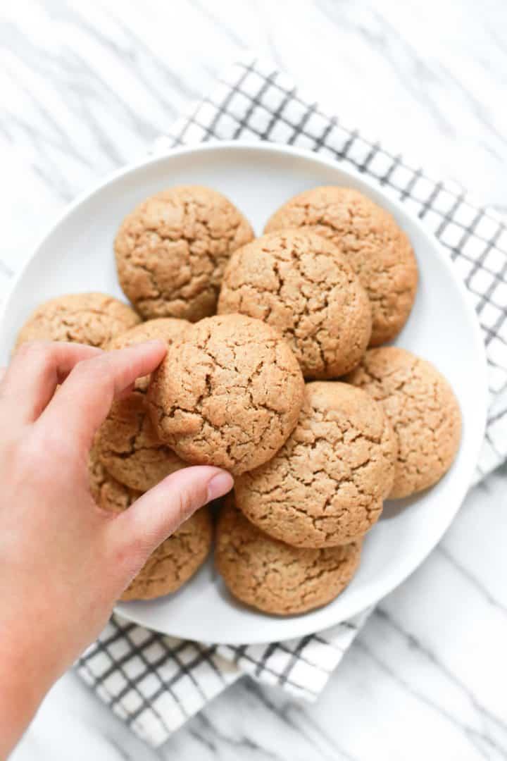 Almond Butter Coconut Flour Cookies (Gluten-Free, Dairy-Free)