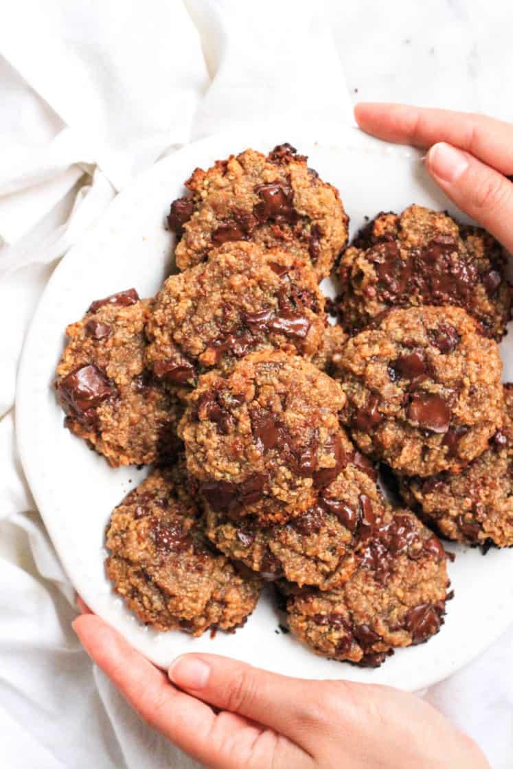 Cashew Butter Chocolate Chunk Cookies (Gluten-Free, Vegan)