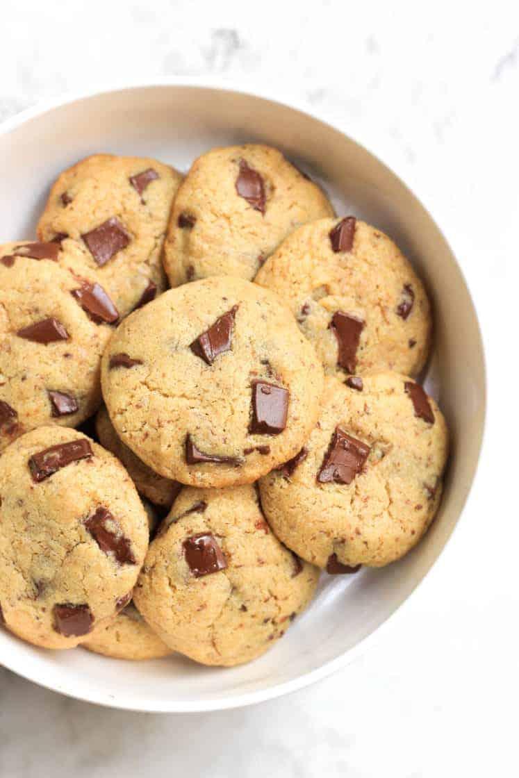 Chickpea Flour Chocolate Chunk Cookies (Gluten-Free, Vegan)