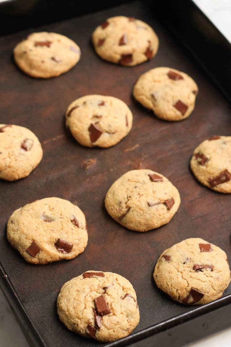 Chickpea Flour Chocolate Chunk Cookies