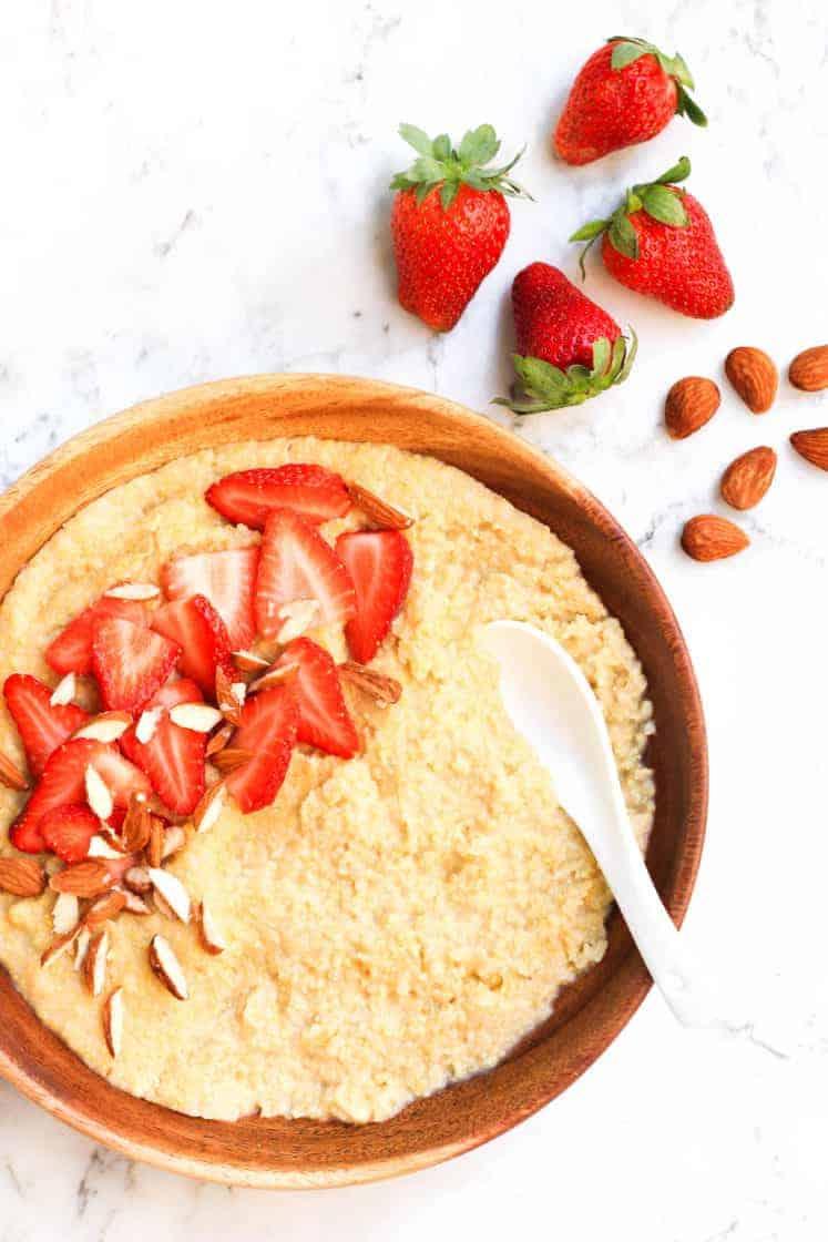 Creamy Millet Breakfast Porridge (Vegan & Gluten-free)