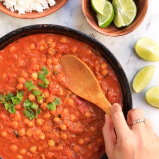 Easy Chickpea Curry (Gluten-free, Vegan)