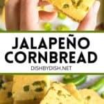 Pinterest image for jalapeño cornbread