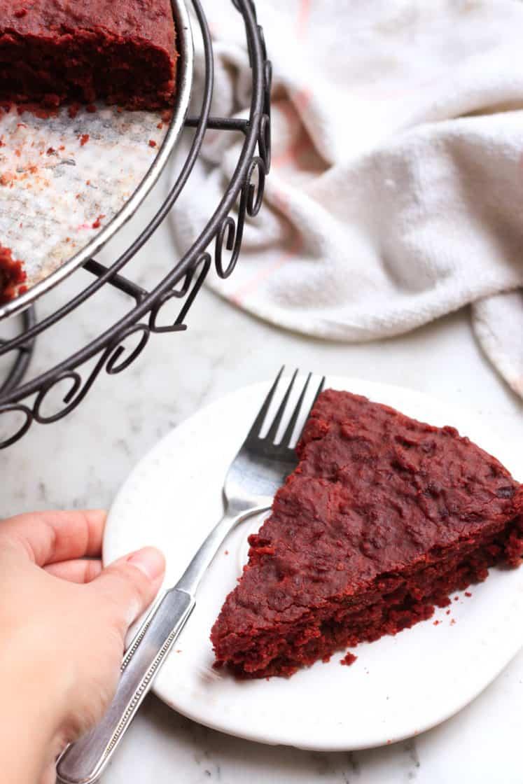 Fudgy Chocolate Beetroot Cake (Gluten-free, Vegan)