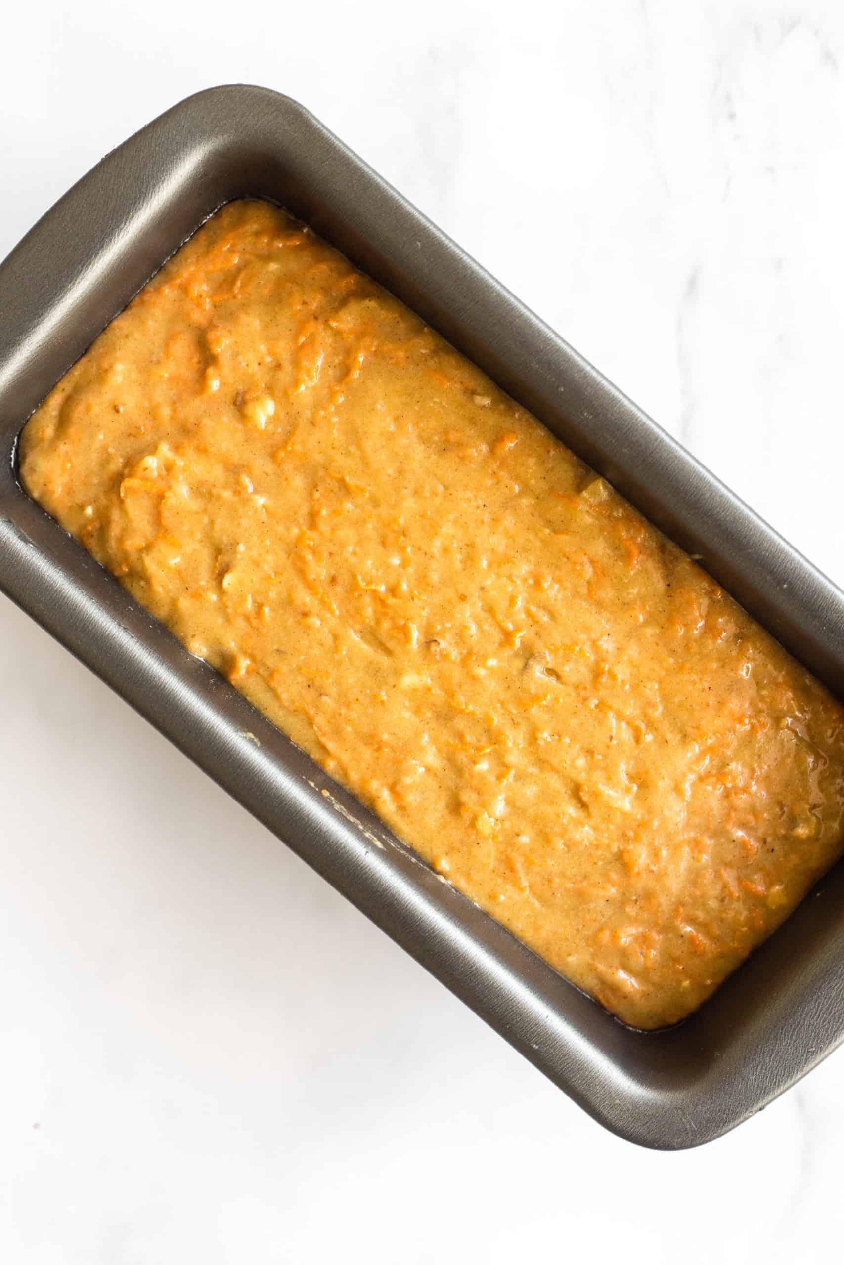 Batter for gluten-free carrot cake bread