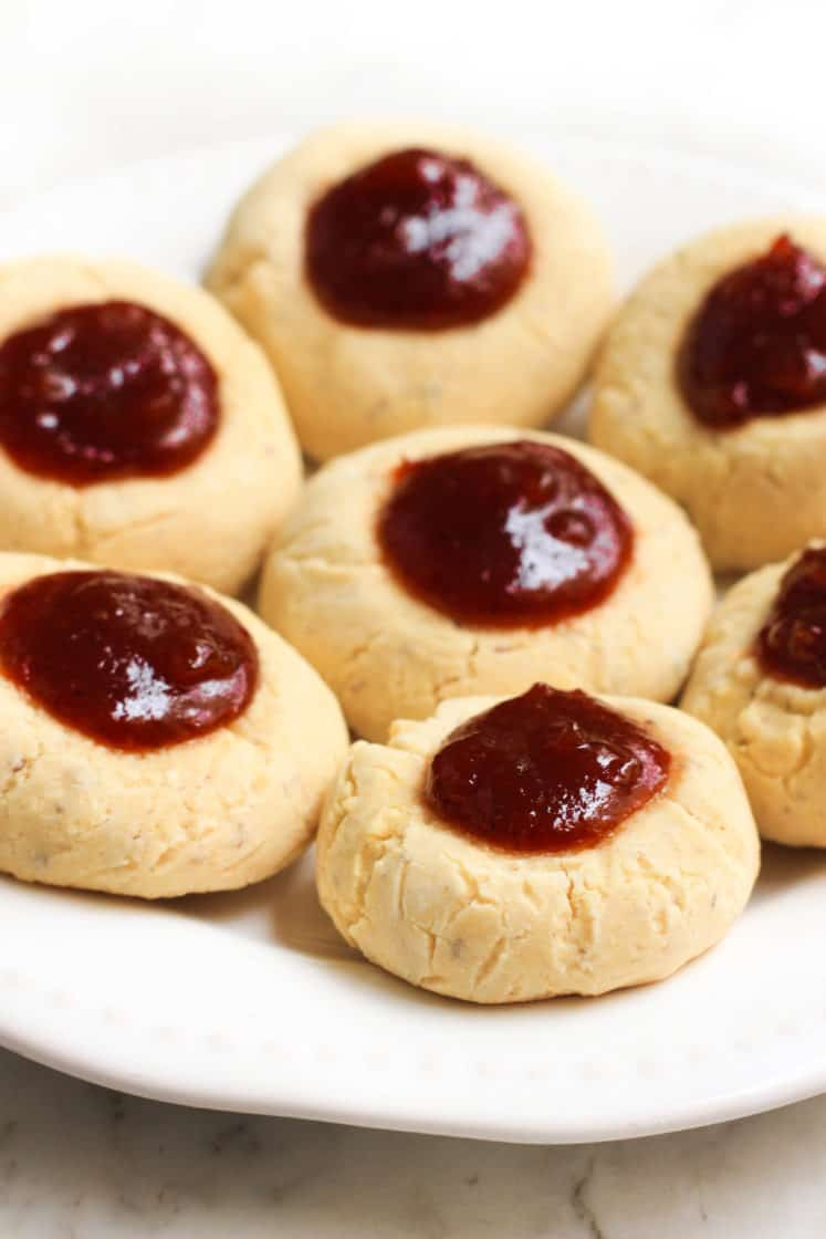 Gluten-Free Quince Jelly Thumbprint Cookies
