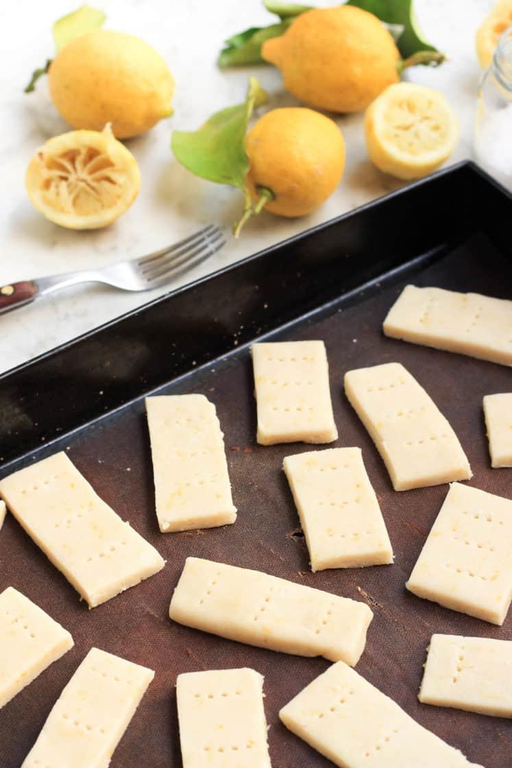 Gluten-free Lemon Shortbread Cookies (Vegan)