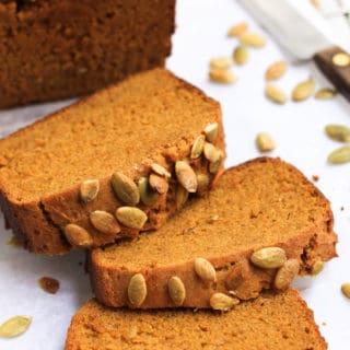 Gluten-free Vegan Pumpkin Bread