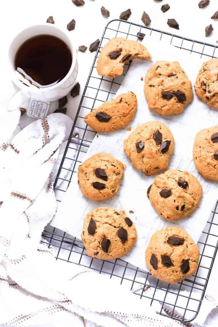 Grain-Free Almond Coconut Chocolate Chunk Cookies