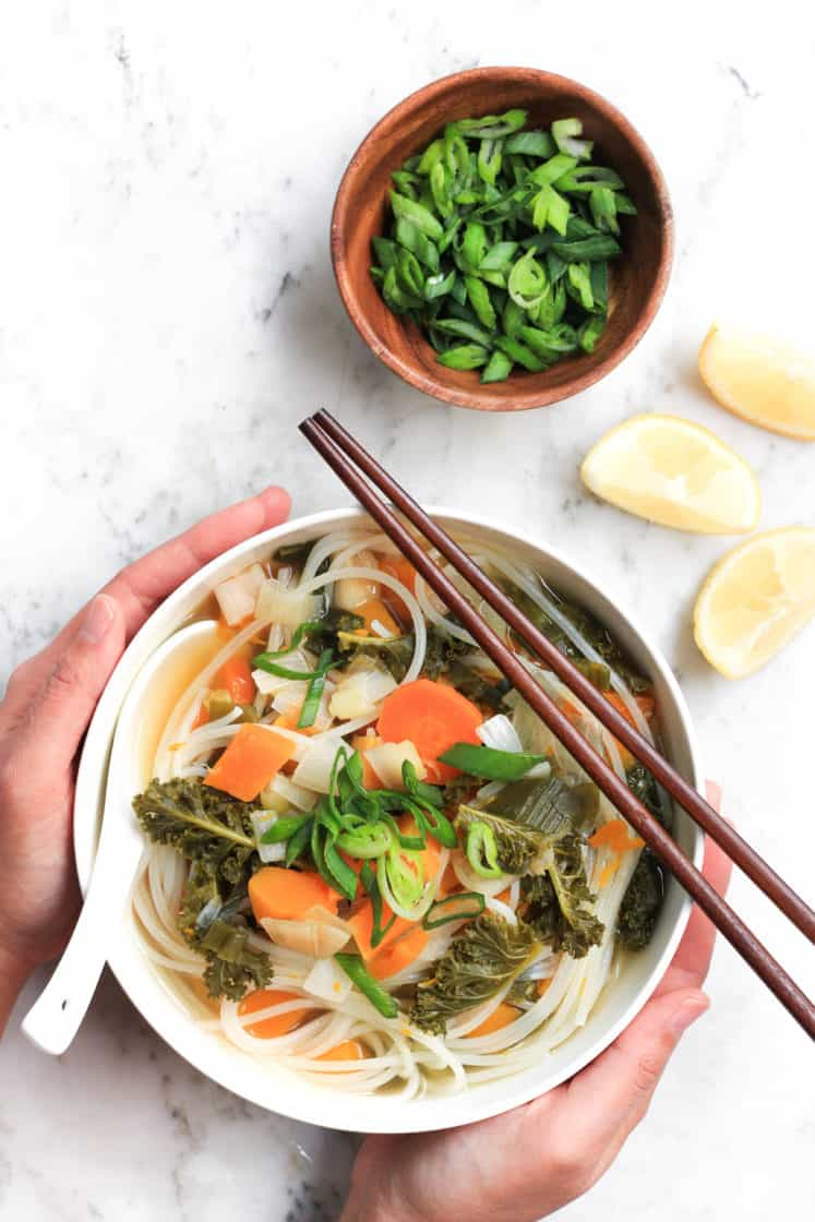 Healing Vegetable Noodle Soup (Gluten-free, Vegan)
