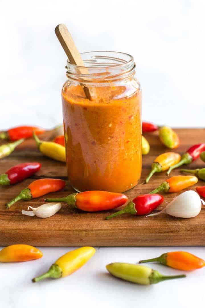Homemade Sriracha Chili Sauce (Gluten-Free, Paleo)