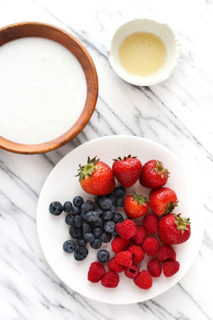Mixed Berry Coconut Yogurt Popsicles (Dairy-Free, Gluten-Free)