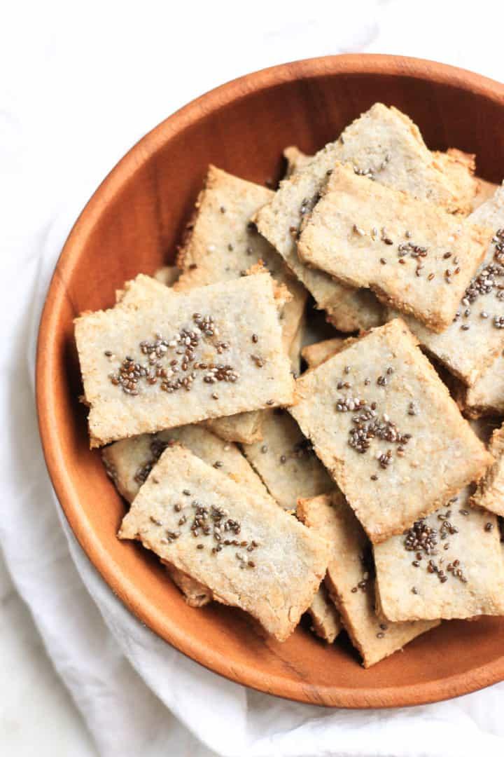 Paleo Sunflower Seed Crackers
