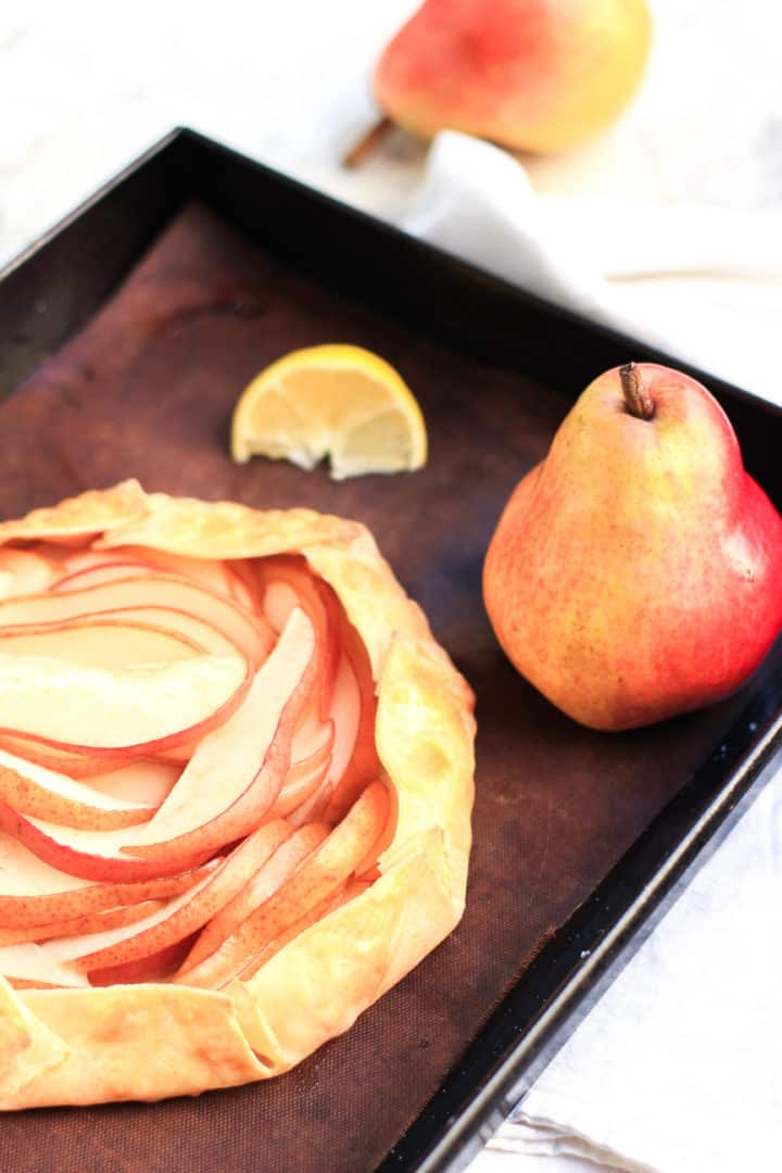 Red Pear Galette