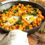 Sweet Potato & Kale Breakfast Skillet (GF, Paleo)