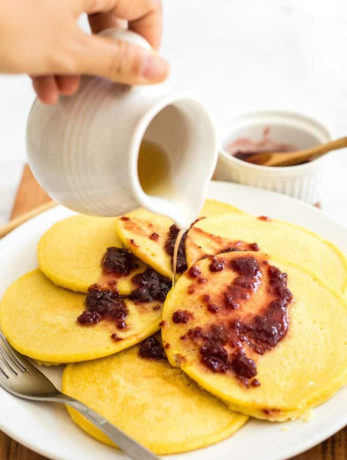The Easiest Corn Flour Pancakes (Gluten-Free, Dairy-Free)